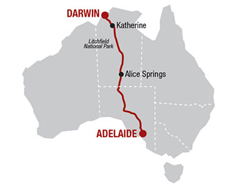 Ultimate Outback Rail Journeys Map